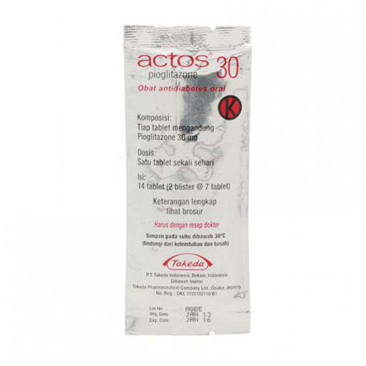 Actos 30 mg tablet 1