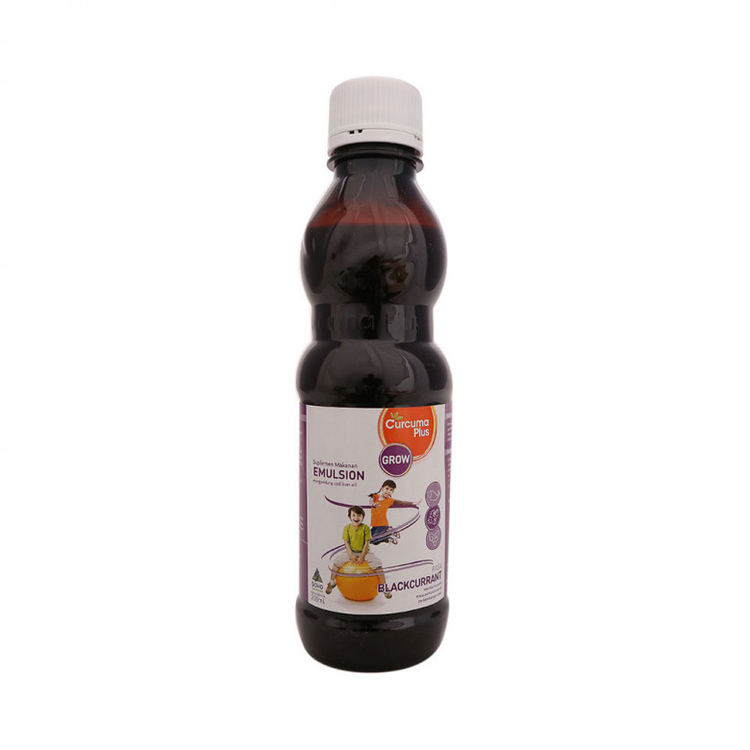 Curcuma plus emulsion blackcurrant 200 ml 4